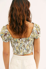 Free People Cherry Bomb Printed Crop Top S