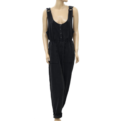 Free People Buckle Overall Jumpsuit Dress L