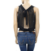 Free People Fp One Lace Sheer Open Back Tank Top XS