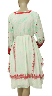 Free People Embroidered Printed White Dress  S