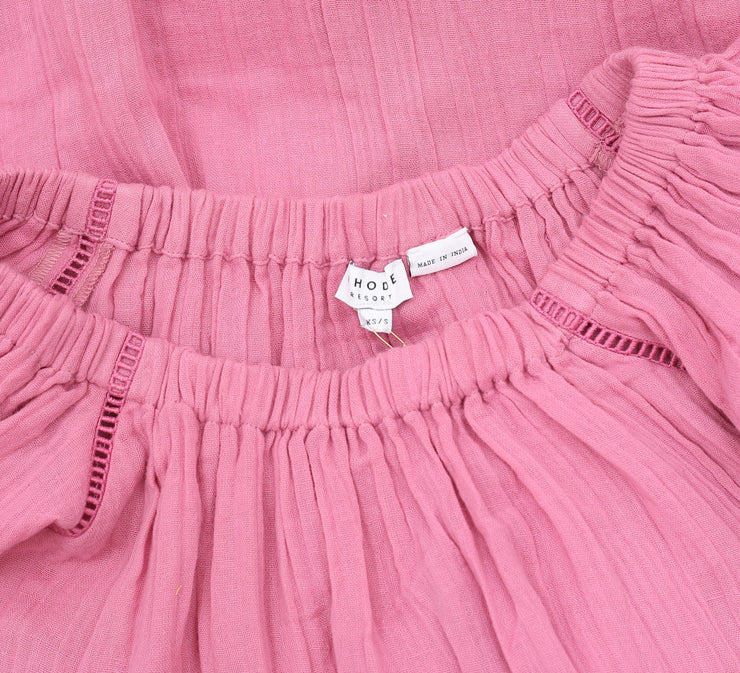 Rhode Resort Jay Lace  Dusty Rose Dress XS S