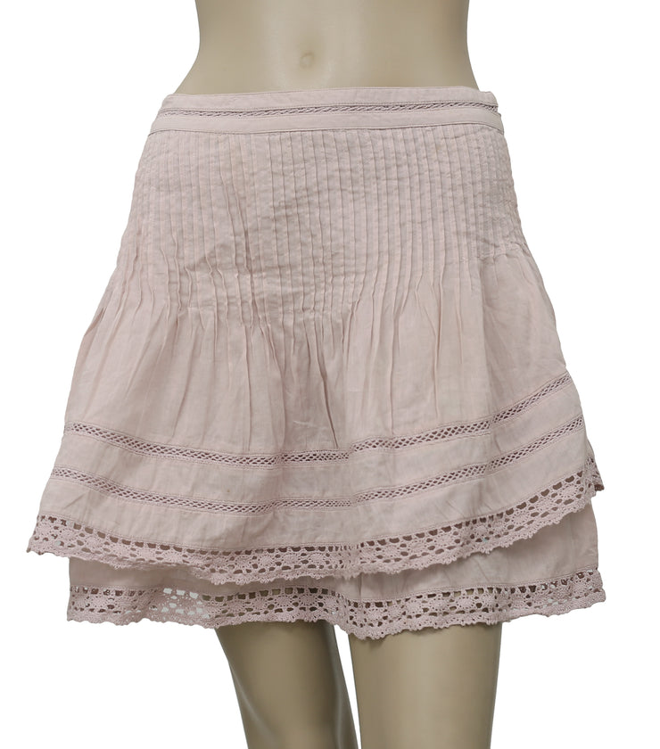 Free People Summer's Night Pintuck Lace Skirt M