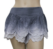 Free People Tiered Eyelet Short Embroidered S