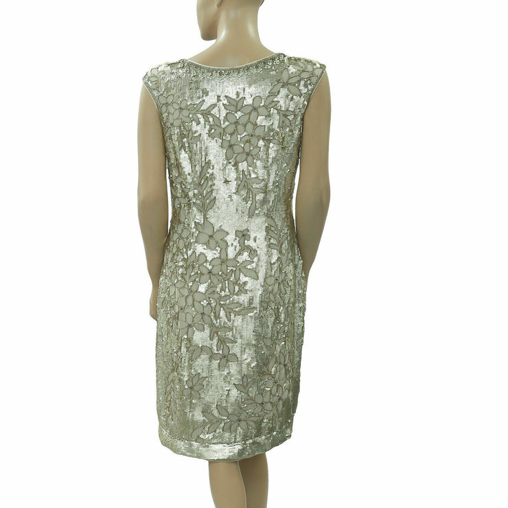 Anthropologie Sequin Bead Embellished Shift Mini Dress S