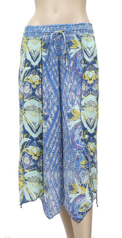 Free People Printed Asymmetrical Pajama Pant S