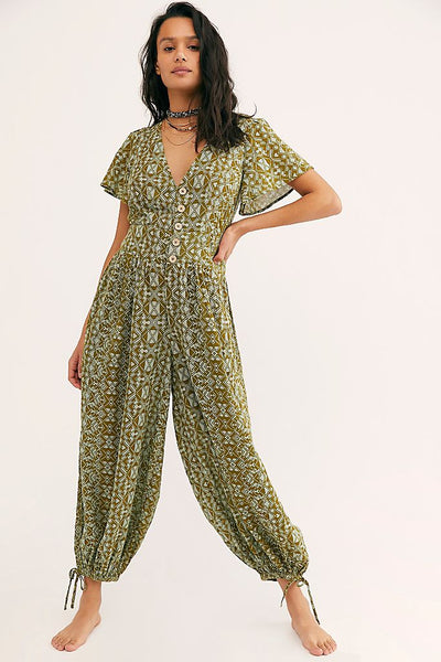 Free People Layla One Piece Jumpsuit XL