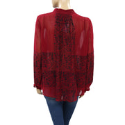 Lucky Brand Women's Modern Geo Tunic Top L