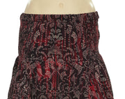 IRO Adelespe Printed Multi Color Smocked Skirt Small S