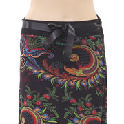 Desigual Floral Printed Lace Black Midi Skirt High Waisted M
