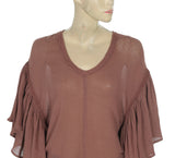 New Free People Lace Flutter Gauze Top M