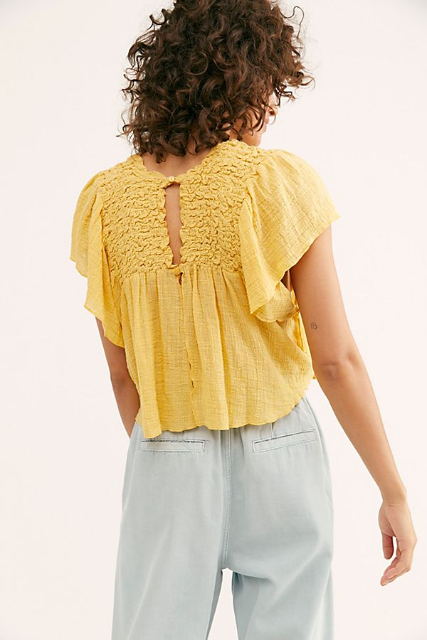 Free People FP One Hyacinyth Blouse Top