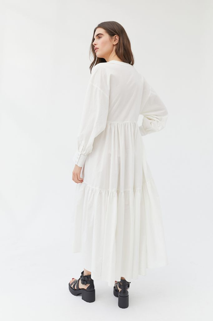 Urban Outfitters Coffee Date Long Sleeve Maxi Dress M/L