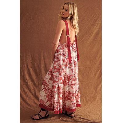 Free People Tropical Toile Maxi Dress M