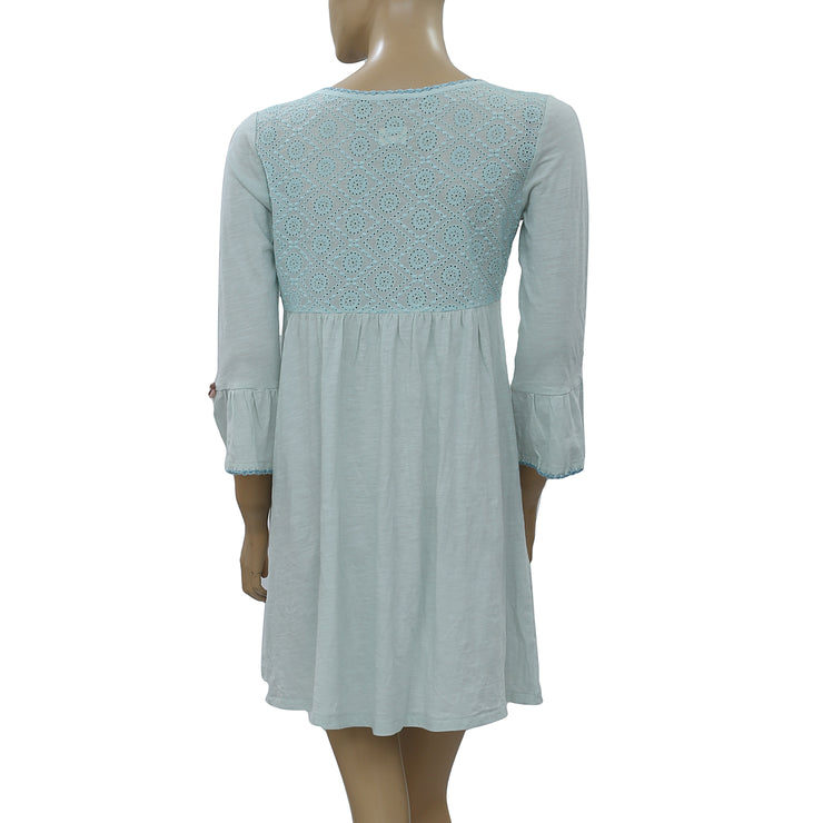 Odd Molly Anthropologie Eyelet Embroidered Mini Dress S