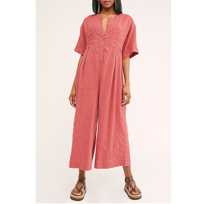 Free People Current Obsession Jumpsuit Dress XL