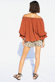 Free People FP Beach Rosine Blouse Top
