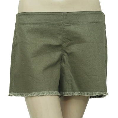New Free People Fringes Casual Olive Green Shorts Medium M