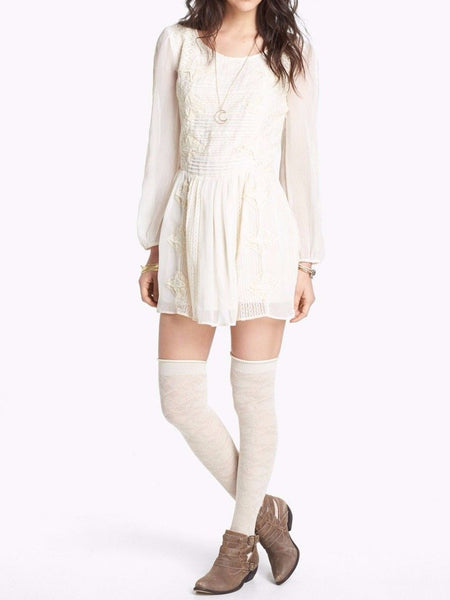 Free People Leigh Lace Patchwork Tunic Dress M