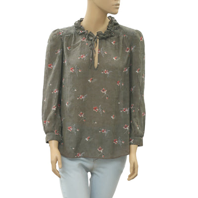 Ulla Johnson Floral Printed Blouse Top