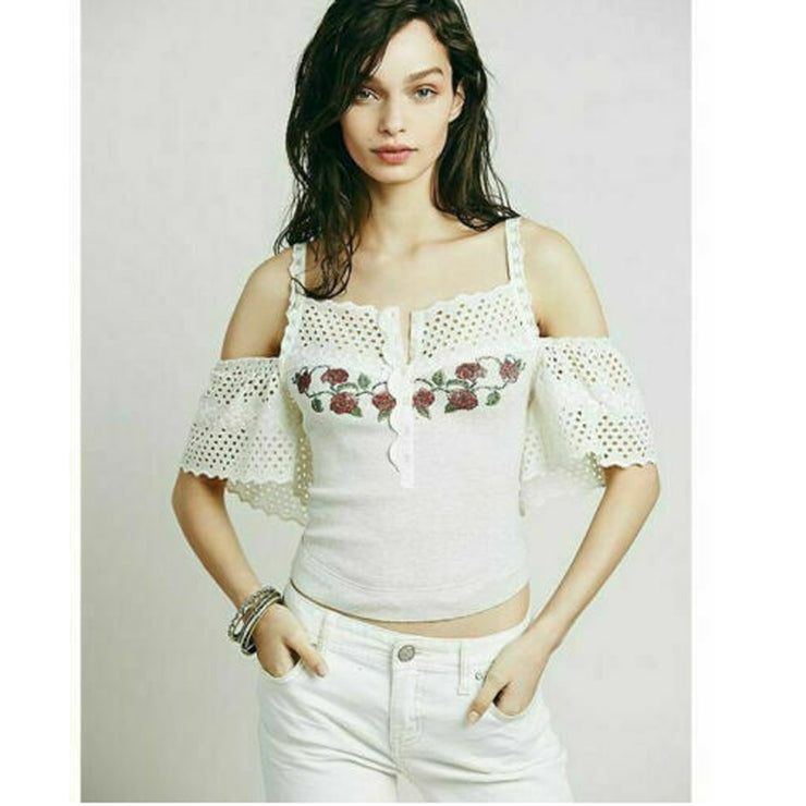 Free People FP New Romantics Harley Dawn Top S