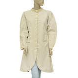 Ewa I Walla Peasant Lagenlook Vintage Buttondown Jacket Dress M
