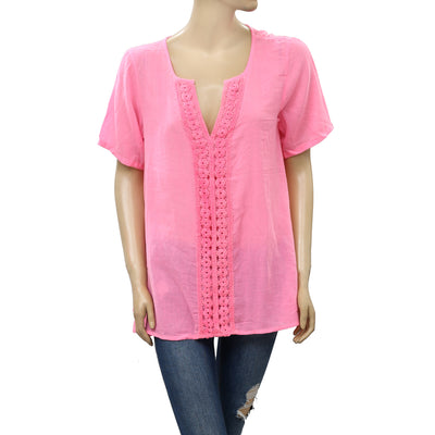 Lilly Pulitzer Cotton Pink Tunic Top L