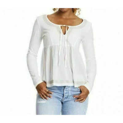 Odd Molly Anthropologie Cappella White Blouse Top L-3