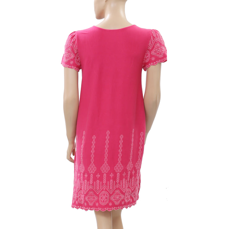 Odd Molly Embroidered Eyelet Dress S