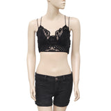 Free People FP One Madonna Bralette Lace Black Crop Bra Top XS