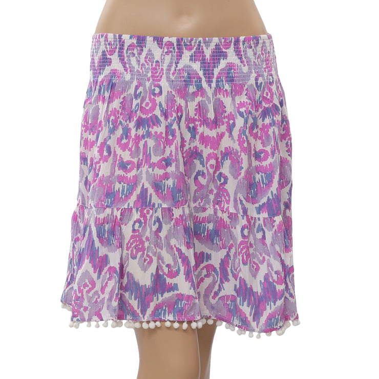 Lilly Pulitzer Evelyn Printed Mini Skirt High Waisted Summer Beach L