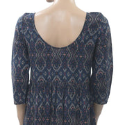 Abercrombie & Fitch Printed Tunic Mini Dress Navy S