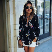 Free People Floral Printed Tunic Top S