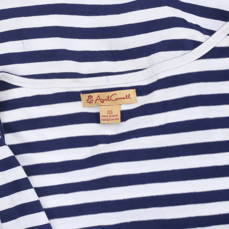 April Cornell Striped Navy White Coverup Dress OS