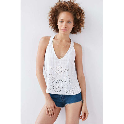Ecote Urban Outfitters Dani Eyelet Tank Crop Top XS