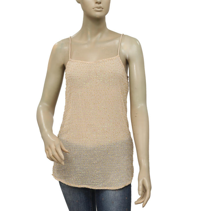 Intimately Free People Sequin Embellished Strappy Top XS