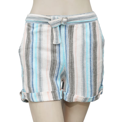 Free People Striped Printed Smocked Pocket Shorts Small S