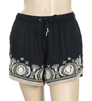 Abercrombie & Fitch Black Embroidered Shorts S