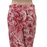 Varun Bahl Anthropologie Rose Printed Pajama Pant High Waisted M NWT