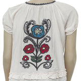 Odd Molly Floral Embroidered Crochet Lace Top M