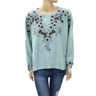 Soft Surroundings Floral Pullover Blouse Top L