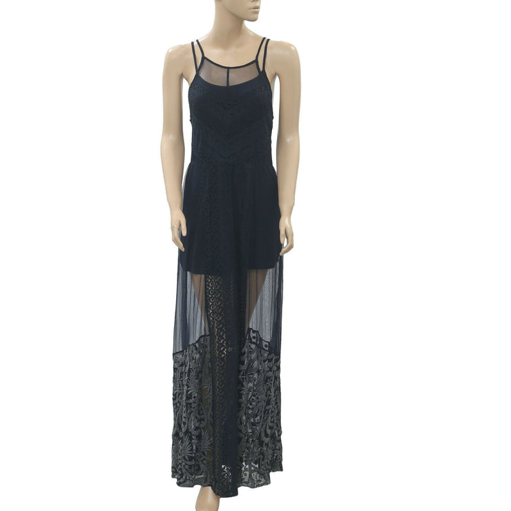 Abercrombie & Fitch Lace Embroidered Maxi Dress S