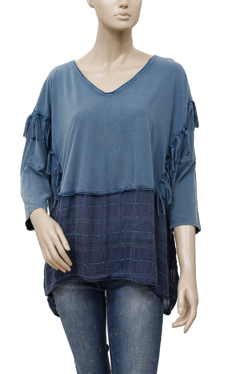 Free People Mustang Sally Fringes Top S