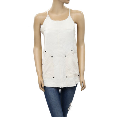 Free People Studded Tank Blouse Top XS