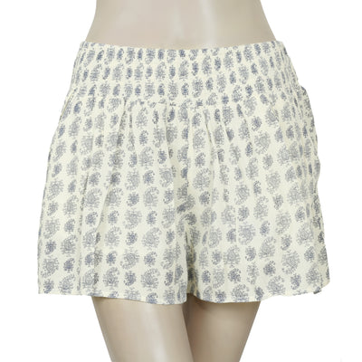 Lucky Brand Smocked Printed Pocket Shorts Small S