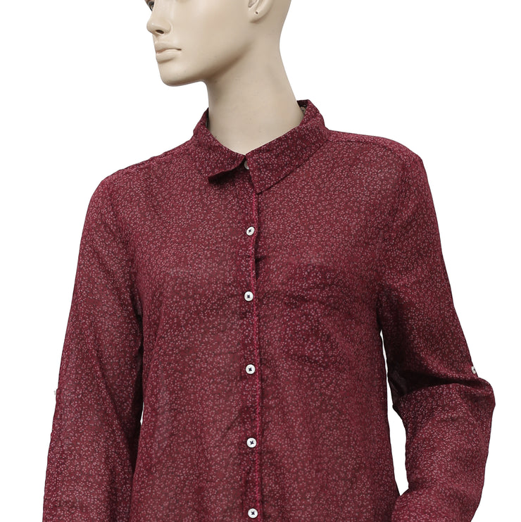 Holding Horses Anthropologie Arabel Button Down Top M 10