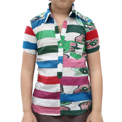 Desigual Kids Girls Printed Shirt Blouse Top 4 Years