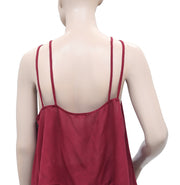 Intimately Free People Lace Trim  Straps Maroon Top S