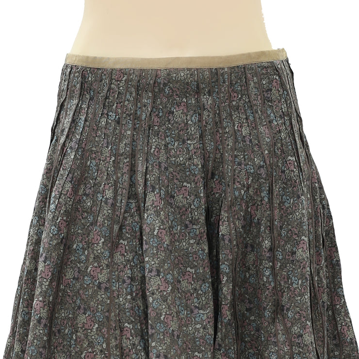 Staring At Stars Anthropologie Floral Printed Mini Skirt S 6