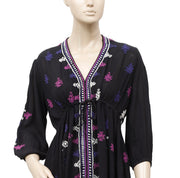 Free People Stargazer Embroidered Mini Dress S