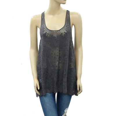 High Use Embroidered Tank Blouse Top XS